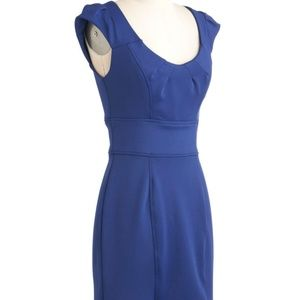 Royal Blue Mod Cloth Day and Night Dress - Small